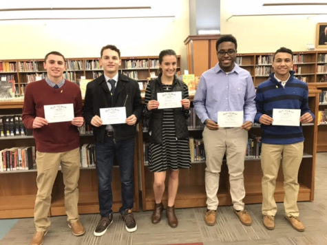 Five Students Inducted into Quill and Scroll