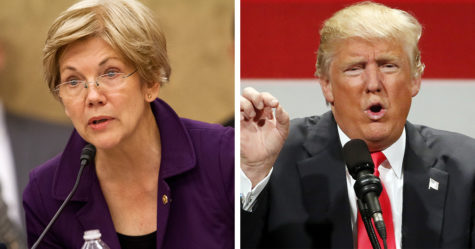 President Trump interrupts ceremony to insult Senator Warren