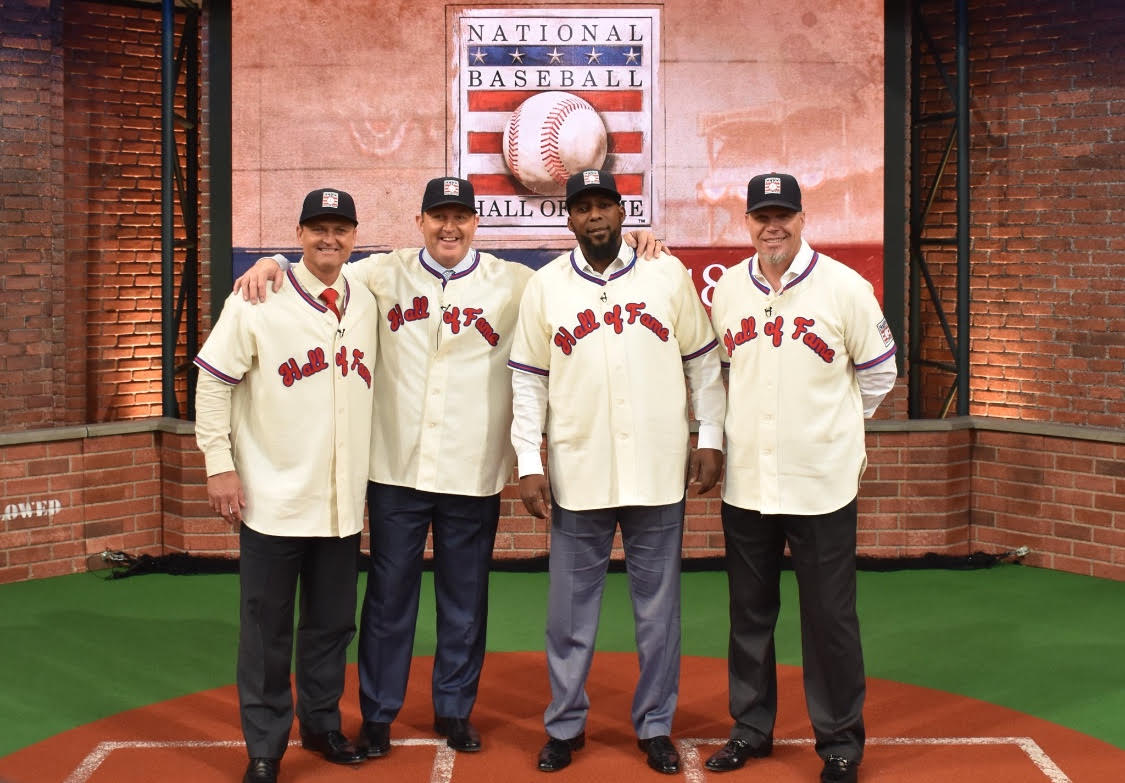 From left to right, Trevor Hoffman, Jim Thome, Vladimir Guerreo, and Chipper Jones