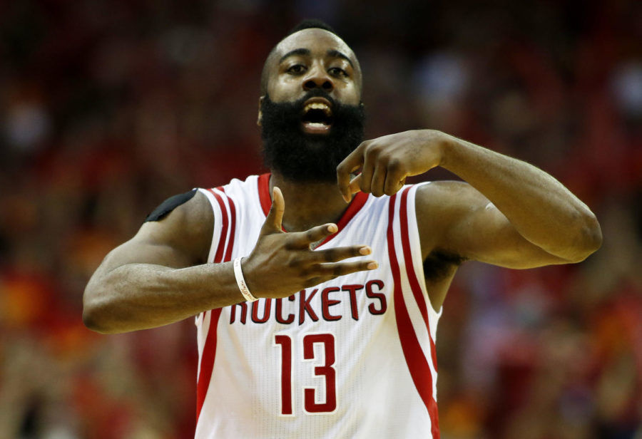 HOUSTON%2C+TX+-+MAY+17%3A++James+Harden+%2313+of+the+Houston+Rockets+celebrates+in+the+fourth+quarter+against+the+Los+Angeles+Clippers+during+Game+Seven+of+the+Western+Conference+Semifinals+at+the+Toyota+Center+for+the+2015+NBA+Playoffs+on+May+17%2C+2015+in+Houston%2C+Texas.+NOTE+TO+USER%3A+User+expressly+acknowledges+and+agrees+that%2C+by+downloading+and%2For+using+this+photograph%2C+user+is+consenting+to+the+terms+and+conditions+of+the+Getty+Images+License+Agreement.++%28Photo+by+Scott+Halleran%2FGetty+Images%29
