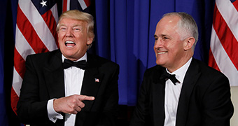 Australia's Turnbull and President Trump discuss gun control