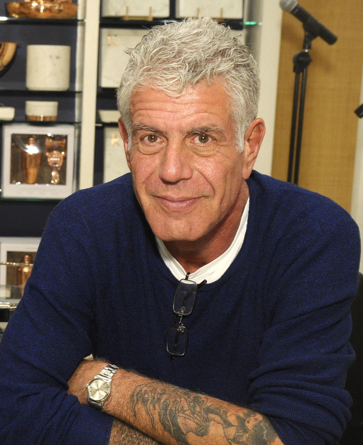 NEW YORK, NY - DECEMBER 02:  Anthony Bourdain attends Hey New York: Meet Anthony Bourdain + Eric Ripert book signing event for his book