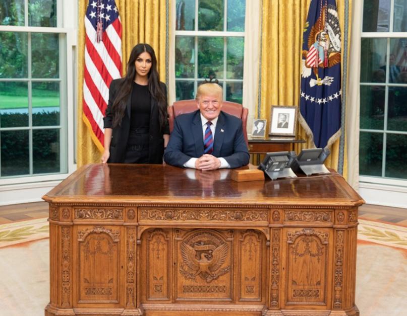 Kardashian West and President Trump meet to discuss a pardon