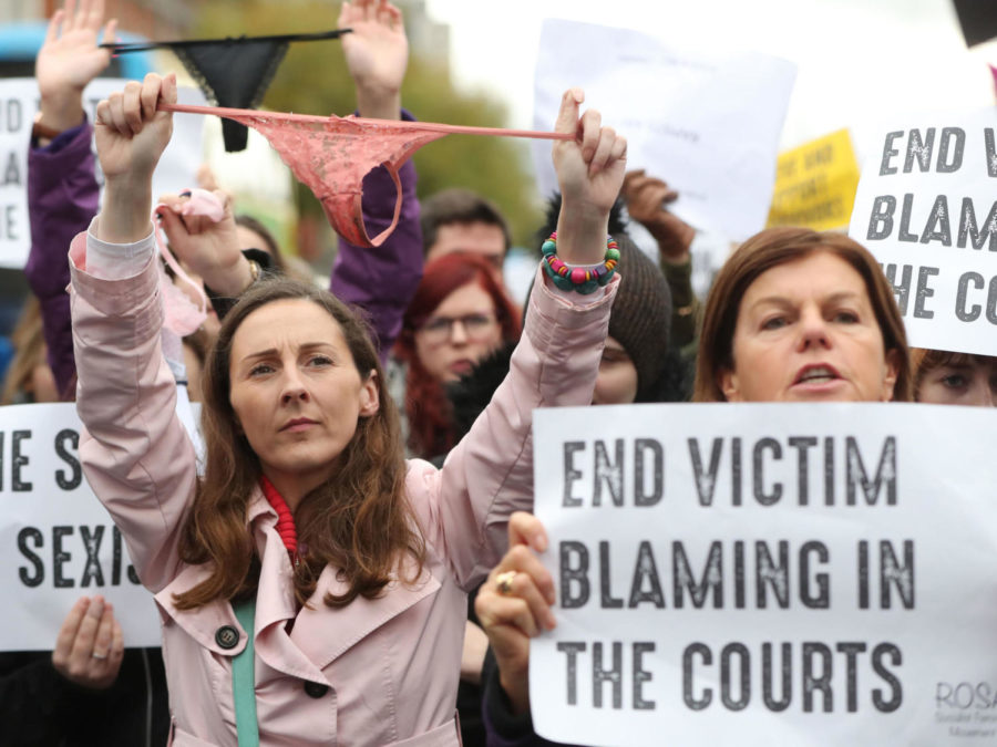 Protesters+gathered+Wednesday+in+Dublin+to+denounce+the+Irish+legal+system%27s+treatment+of+women+who+said+they+had+been+sexually+assaulted.