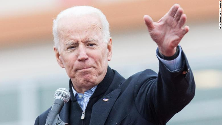 DORCHESTER, MA - APRIL 18:  Former Vice President Joe Biden speaks in front of a Stop & Shop in support of union workers on April 18, 2019 in Dorchester, Massachusetts. Thousands of unionized Stop & Shop workers across New England walked off the job last week in an ongoing strike in response to a proposed contract which the United Food & Commercial Workers union says would cut health care benefits and pensions for employees.  (Photo by Scott Eisen/Getty Images)
