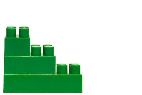 Green plastic blocks