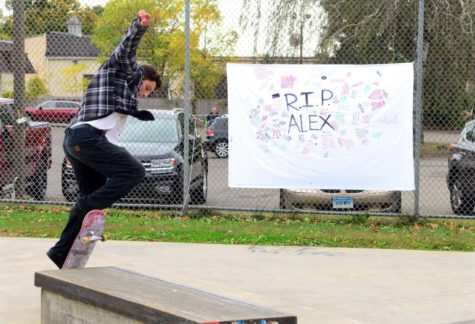 Steve Hayden, of Stratford, does a trick at Milford Skate Park, which was renamed the Alexander Jordan Jamieson Memorial Skate Park at an event held in honor of him in Milford, Conn., on Saturday Oct. 12, 2019. AJ was a popular Milford teen who committed suicide earlier this year due to depression. Some of the event highlights included live music, night skating, food trucks and advocates for help dealing with depression and suicidal thoughts.